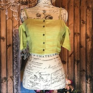 ASTR Cropped Lime Shirt
